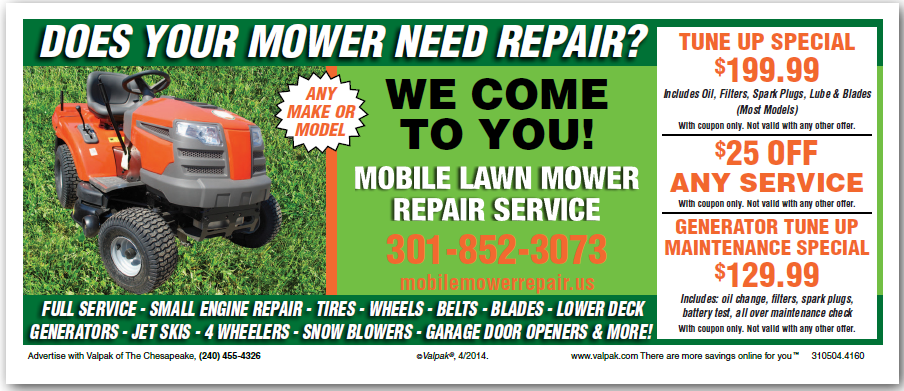 Mobile Mower Repair Major Minor Lawn Equipment Repair